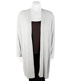 A. Byer Plus Size Long Sleeve Hooded Duster