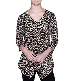 Joan Vass Cheetah Print Tunic