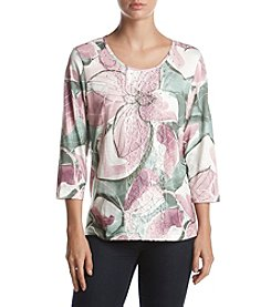 Alfred Dunner® Petites' Exploded Floral Top