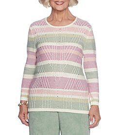 Alfred Dunner® Petites' Texture Biadere Sweater