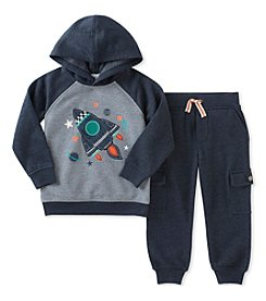 Kid's Headquarters® Baby Boys' Rocket Fleece Top & Jogger Pants Set