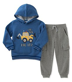 Kid's Headquarters® Baby Boys' Digger Fleece Top & Jogger Pants