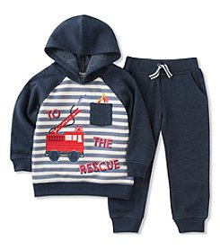 Kid's Headquarters® Baby Boys' Firetruck Hoodie & Fleece Pants