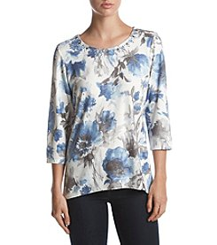 Alfred Dunner Petites' Watercolor Floral Top