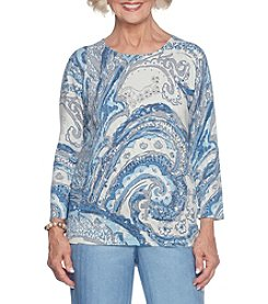 Alfred Dunner Petites' Paisley Sweater