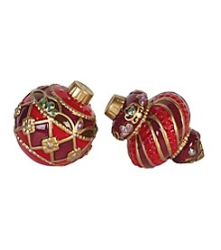 Fitz & Floyd® Renaissance Holiday Ornament Salt And Pepper Shakers