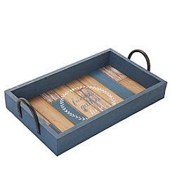 Elements Blue Friends Wood Tray