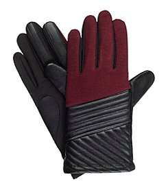 Isotoner Signature® Leather Diagonal Quilted Gloves