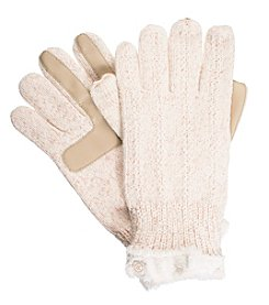 Isotoner Signature® Lurex Knit Palm Gloves