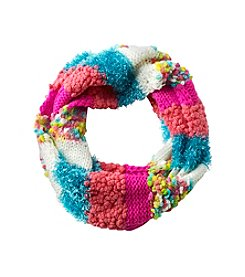 Miss Attitude Girls Popcorn Block Loop Scarf