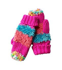 Miss Attitude Girls 7-16 Popcorn Block Mittens