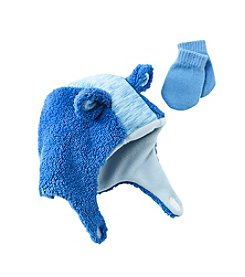 Statements Boys Fuzzy Fleece Hat And Mittens Set