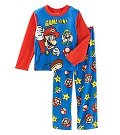 Nickelodeon Boys' 4-10 Mario & Luigi Game Power Pajamas