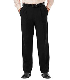 Haggar Men's Cool 18 Classic Pleated Pant