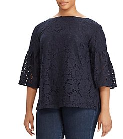 Lauren Ralph Lauren Plus Size Lace Top