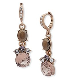 Givenchy Goldtone Stone & Crystal Linear Drop Earrings