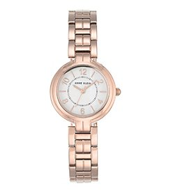 Anne Klein®Rose Goldtone Bracelet Watch