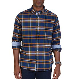 Nautica Men's Flannel Plaid Button Down
