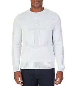 Nautica Men's Texture Anchor Sweater