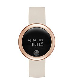 eMOTION Rose Goldtone Blush Silicone Strap Smartwatch