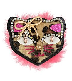 Betsey Johnson Multi Cat Pin