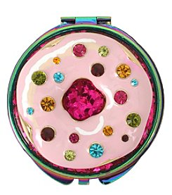 Betsey Johnson Pink Donut Compact Mirror