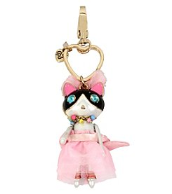 Betsey Johnson Cat Key Fob