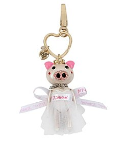 Betsey Johnson Pig Bride Key Chain