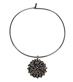 Kenneth Cole Hematite Collar Woven Pendant Necklace