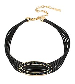 Kenneth Cole Goldtone Multi-Black Cord Choker Necklace