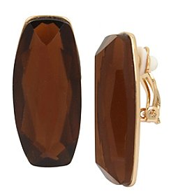 Robert Lee Morris Soho Goldtone Topaz Clip Earrings