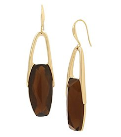 Robert Lee Morris Soho Goldtone Topaz Drop Earrings