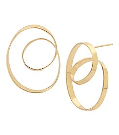 Robert Lee Morris Soho Goldtone Loop Hoop Earrings