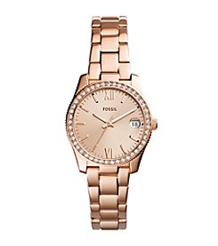 Fossil Rose Goldtone Small Round Bracelet Watch