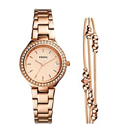 Fossil Women's Rose Goldtone Blane Watch