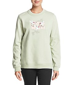 Breckenridge Rose Hummingbird Crew Neck Sweatshirt