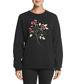 Breckenridge Valentine Flowers Crew Neck Sweater