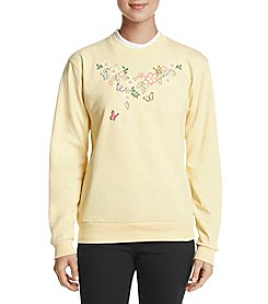 Morning Sun Butterfly Corsage Sweater