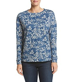 Ruff Hewn High Low Floral Pattern Sweatshirt