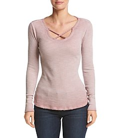 Ruff Hewn Lattice V-Neck Thermal Top