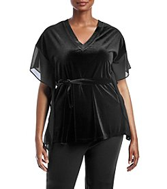 MICHAEL Michael Kors Plus Size Velvet Mix Top