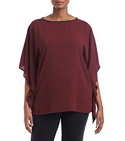 MICHAEL Michael Kors Plus Size Chain Neck Detail Top