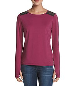 Ivanka Trump® Athleisure Colorblock Shoulder Detail Top