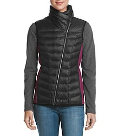 Ivanka Trump Colorblock Quilted Asymmetrical Zip Vest