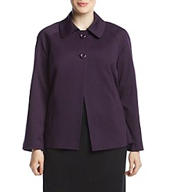 Kasper Plus Size Two Button Collar Jacket
