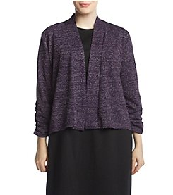 Kasper Plus Size Metallic Cardigan