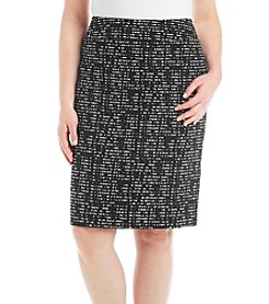 Nine West Plus Size Jacquard Slim Skirt