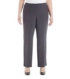 Nine West Plus Size Printed Contast Panel Pants