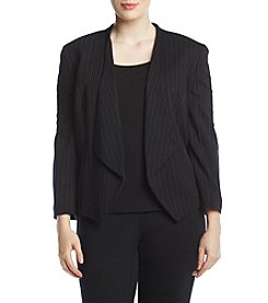 Nine West Plus Size Wing Lapel Print Jacket