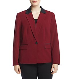 Kasper Plus Size Notch Collar Jacket